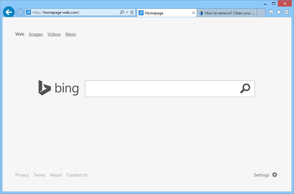 remove homepage-web.com