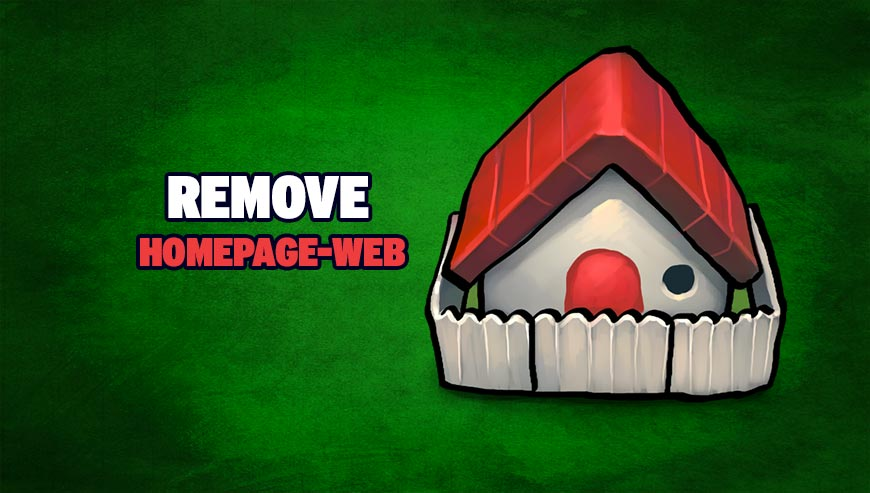 how to get rid of homepage web