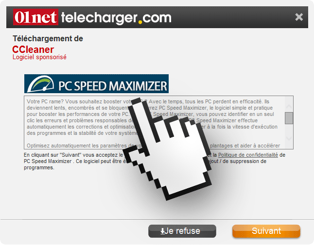 pc speed maximizer 01net