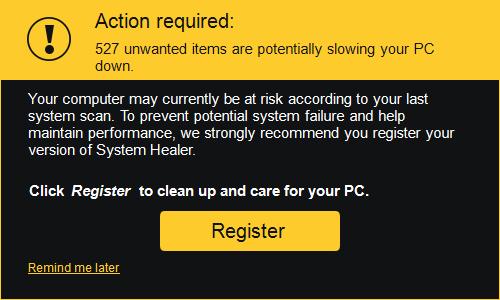 system healer register