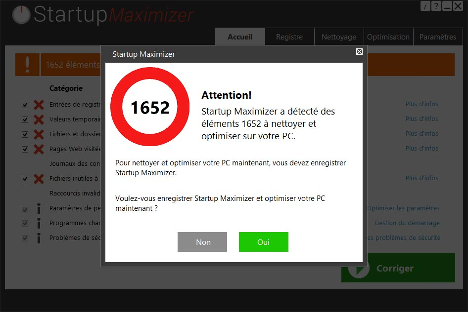 startupmaximizer warning