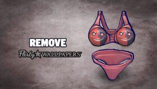 remove flirty wallpapers