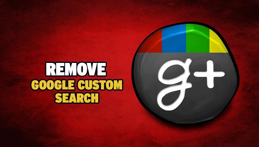 Remove Google Custom Search