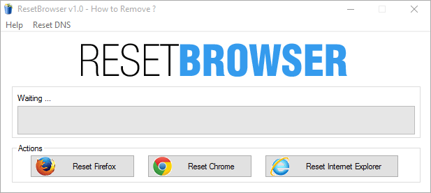 How to remove ecosia.org with ResetBrowser